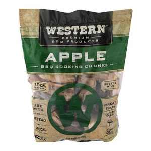 Western BBQ 28084 549 cu in. Premium Apple Wood BBQ Charcoal Propane Pellet Grill/Smoker Cooking Chunks