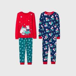Toddler Girls' Peppa Pig 4pc Pajama Set