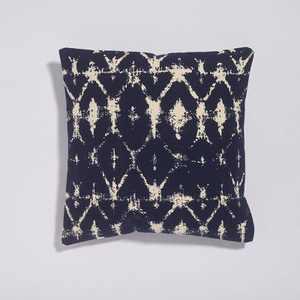 """18""""x18"""" Batik Print Throw Pillow Navy - Sure Fit"""