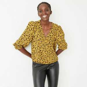 Women's Puff Long Sleeve Wrap Top - A New Day