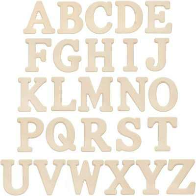 Bright Creations 26-Piece Wooden A-Z Alphabet Letters, Wood Letter Blocks, Painting Activity for Kids, DIY Crafts and Home Wall Decor, 6 inches