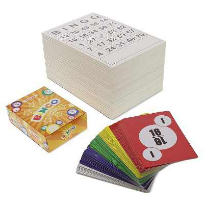 Blue Panda 3 Set 60 Pack Bingo Cards Black and White Paper Game Set and Activity for Family Nights Charity Events Parties, 75 Calling Deck Cards