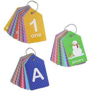 Bright Creations 3-Pack First Words Alphabet Numbers Flash Cards Total 78-Card Perfect Toddler Learning Preschool Educational Toys 4.9 x 2.75 inches