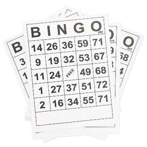 60-Pack Juvale Jumbo Size Bingo Game Cards, Quality Large Paper Cards for Kids, Adults & Seniors, 8 x 11 inches