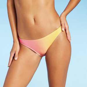 Juniors' Metallic Ombre Cheeky Bikini Bottom - Xhilaration Pink