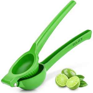 Zulay Kitchen Metal Lime Squeezer, Citrus Juicer for Extracting the Most Juice Possible
