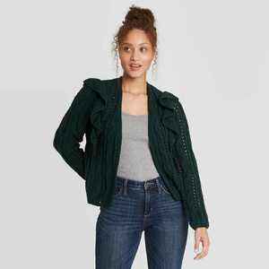 Women's Ruffle Cardigan - Universal Thread