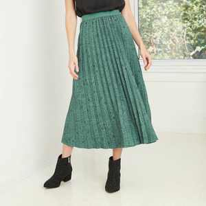 Women's Paisley Print A-Line Pleated Skirt - A New Day