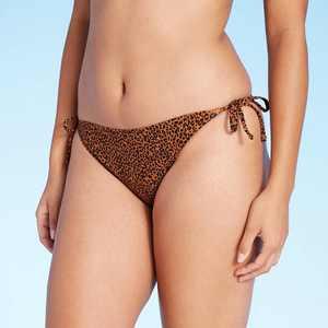 Juniors' Ribbed String Hipster Bikini Bottom - Xhilaration Animal Print