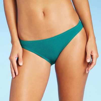 Juniors' Textured Cheeky Bikini Bottom - Xhilaration Dark Teal