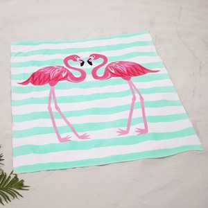 "Lakeside Oversized 54"" x 68"" Jumbo Beach Towel for Swimming - Flamingos"
