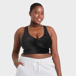 Women's Plus Size Velvet Bralette - Colsie