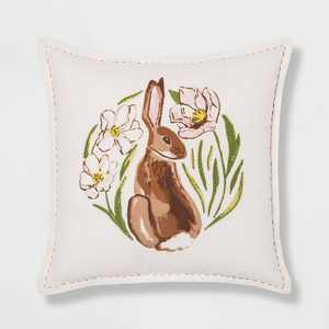 Square Bunny Easter Pillow - Threshold™