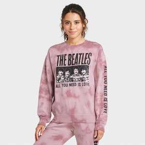 Women's The Beatles Graphic Sweatshirt - Rose XS