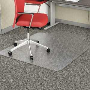 "3'9""x4'5"" Rectangle Solid Office Chair Mat Clear - Alera"