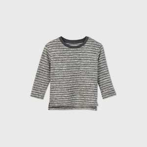 Toddler Boys' Striped Sweater Knit Long Sleeve T-Shirt - Cat & Jack
