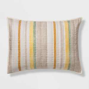Standard Pick Stitch Stripe Sham Multi - Threshold™