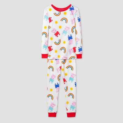 Toddler Girls' Peppa Pig 2pc Pajama Set