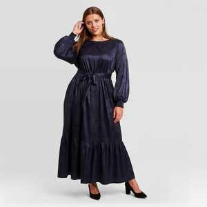 Women's Plus Size Long Sleeve Dress - Ava & Viv