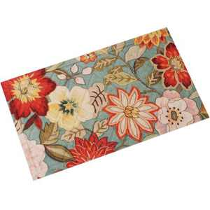 "1'5""x2'5"" Rectangle Floral Accent Rug Multicolored - Sunnydaze Decor"