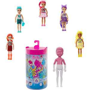Barbie ChelseaColorReveal Color-Block Series Doll