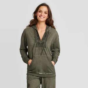 Women's Embroidered Hooded Sweatshirt - Knox Rose