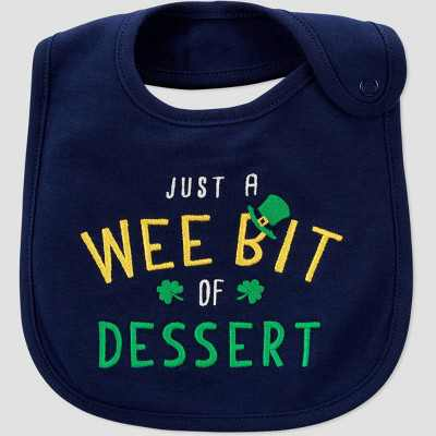 Baby St. Patrick's Day Dessert Bib - Just One You® made by carter's Blue/Green