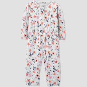 Baby Girls' Floral Romper - Just One You® made by carter's Heather Gray 3M