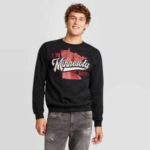 Men's Minnesota Nice Graphic Sweatshirt - Modern Lux Black