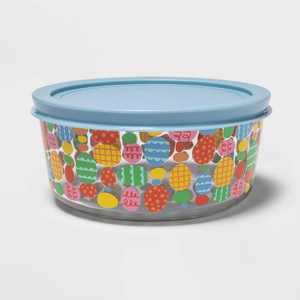54oz Glass Egg Print Food Storage Container - Spritz™