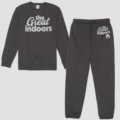 Men's Great Indoors Fleece Top & Bottom Set - Charcoal Heather