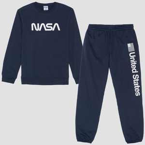 Men's NASA Fleece Top & Bottom Set - Navy