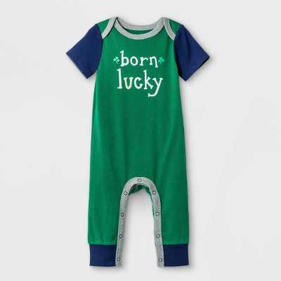 Baby Boys' St. Patrick's Day Romper - Cat & Jack Green