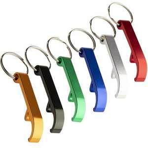 Juvale 24 Pack Bottle Opener Keychain, Metal Keychains with Beer Bottle Opener Pocket Size Bar Claw 6 Colors