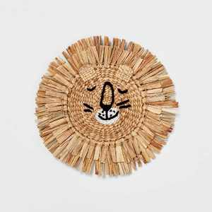 Water Hyacinth Lion Head Wall Décor Natural - Pillowfort™