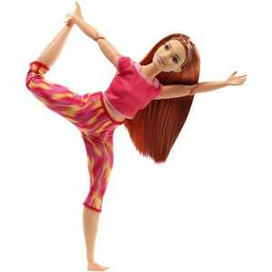 Barbie Made to Move Doll - Orange Dye Pants