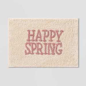 "17""x24"" Happy Spring Bath Rug Pink - Threshold™"