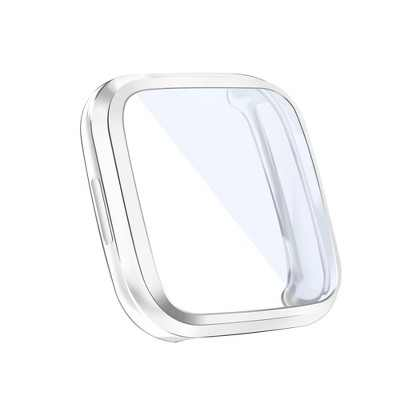Insten Screen Protector with Soft TPU Rubber Protective Case Bumper Compatible with Fitbit Versa 2, Clear