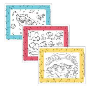 J.L. Childress Color Me Disposable Placemats - 24pk