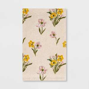 Spring Floral Hand Towel Cream - Threshold™