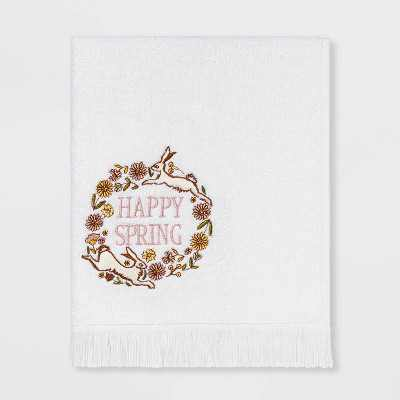 Happy Spring Hand Towel White - Threshold™