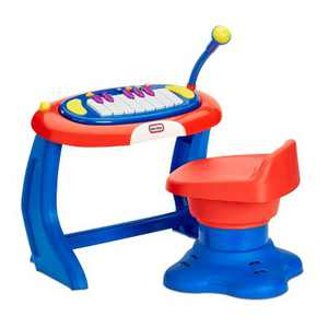 Little Tikes Sing-a-long Piano Musical Station Keyboard with Working Microphone