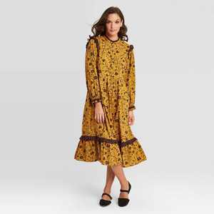 Women's Balloon Long Sleeve Ruffle Dress - Universal Thread
