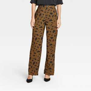 Women's High-Rise Relaxed Fit Wide Leg Pants - Who What Wear