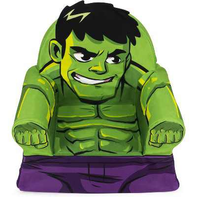 Marshmallow Furniture Comfy Foam Toddler Chair Kid's Furniture for Ages 2 Years Old and Up, The Incredible Hulk