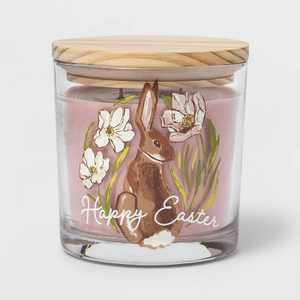 13oz Glass Jar 'Happy Easter' Berry & Daisy Candle - Threshold™