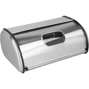 Home Basics Stainless Steel Bread Box, Silver