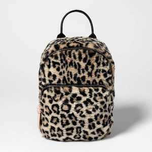 Girls' Leopard Print Backpack - art class™ Black
