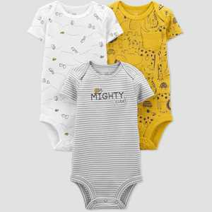 Baby Boys' 3pk Safari Bodysuit - Just One You® made by carter's Yellow/Gray/White 24M