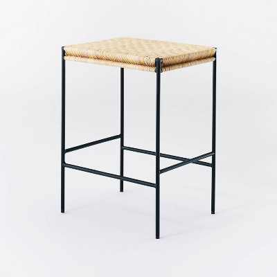 Woven Counter Height Barstool with Metal Legs Natural - Threshold™ designed with Studio McGee